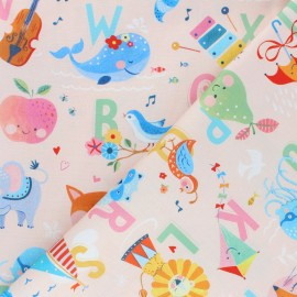 Blend Fabrics Cotton Fabric - peach Alphabet Storytime x 10cm
