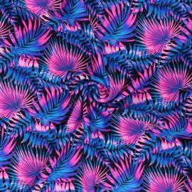Tissu Lycra Maillot de bain Jungle - bleu x 10cm
