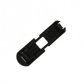 Polyester Cord End Piece - Black Cap