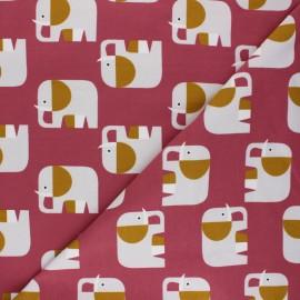 Tissu jersey Elio l'Eléphant - bois de rose  x 10cm
