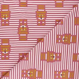 Tissu jersey Martin - bois de rose x 10cm