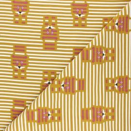 Tissu jersey Martin - moutarde x 10cm