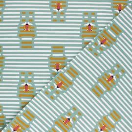 Tissu jersey Martin - eucalyptus x 10cm