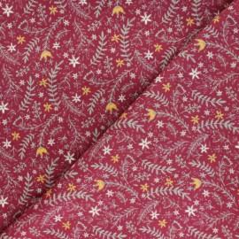 Tissu velours milleraies Jardin d'hiver - bordeaux x 10cm