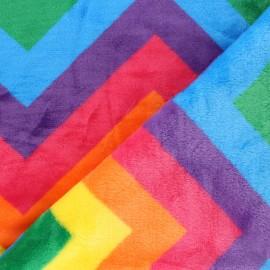 Tissu Doudou Ultra Doux Rainbow Pop - Multicolore x 10cm