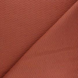 Tissu matelassé Chevrons moucheté - rouille x 10cm