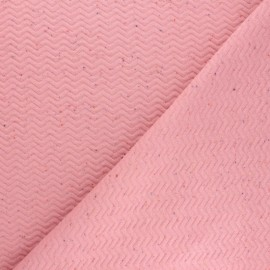 Quilted mottled fabric  - pink Chevrons x 10cm