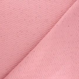 Tissu matelassé Chevrons moucheté - rose x 10cm