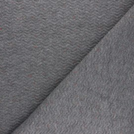 Quilted mottled fabric  - grey Chevrons x 10cm