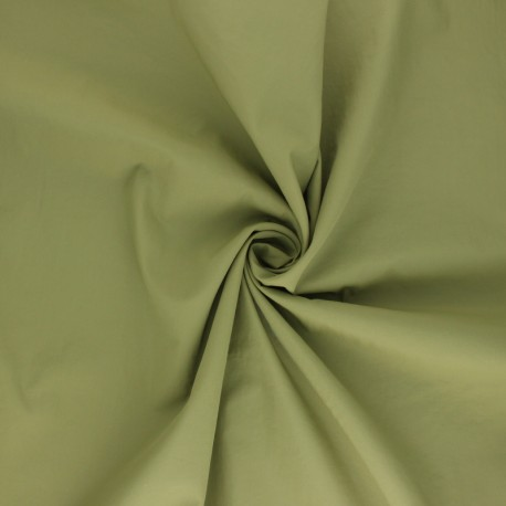 Light Water-repellent polyamid fabric - khaki green x 10cm