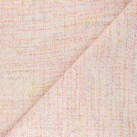 Lurex Tweed fabric - pink Pearl x 10cm