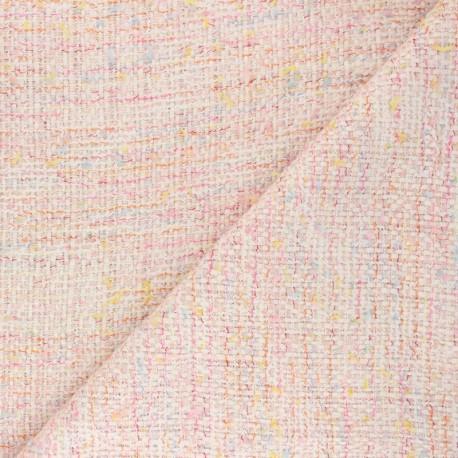 Tissu Tweed Lurex Pearl - rose x 10cm