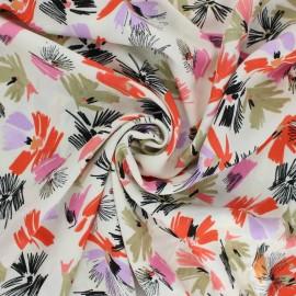 Flowery Viscose Fabric - raw Emma x 10cm