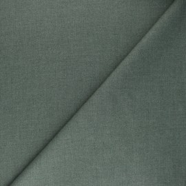 Plain gabardine bamboo fabric - molted green x 10 cm