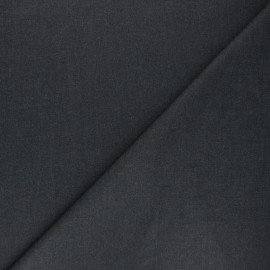 Plain gabardine bamboo fabric - anthracite grey x 10 cm