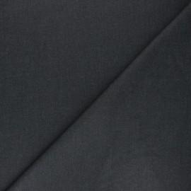 Tissu gabardine bambou uni - anthracite x 10 cm