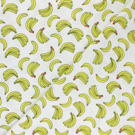 Tissu popeline de coton Banana Pop - écru x 10cm