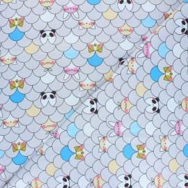 Tissu popeline de coton Peekaboo  - gris clair x 10cm