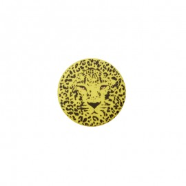 25 mm Polyester Button - yellow Félin