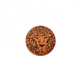 25 mm Polyester Button - orange Félin