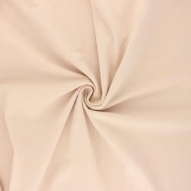 Tissu jersey uni Bio - Nude x 10cm