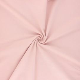Tissu jersey uni Bio - Rose clair x 10cm