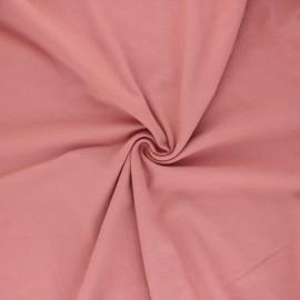 Tissu jersey uni Bio - vieux rose x 10cm