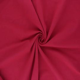 Tissu jersey uni Bio - Rouge carmin  x 10cm