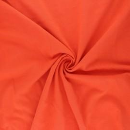 Tissu jersey uni Bio - Orange  x 10cm