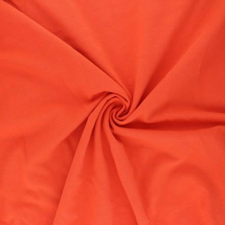 Organic Jersey Fabric - orange x 10cm