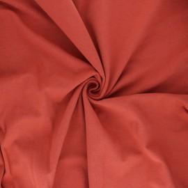 Tissu jersey uni Bio - Rouille  x 10cm