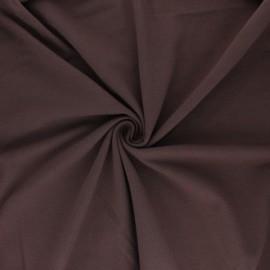 Tissu jersey uni Bio - Chocolat  x 10cm