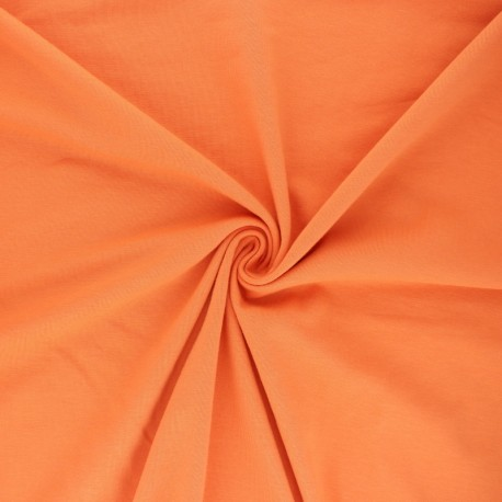 Tissu jersey uni Bio - Abricot x 10cm