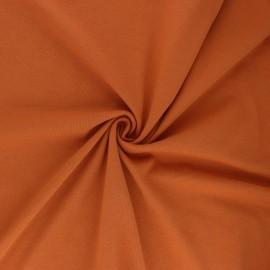 Tissu jersey uni Bio - Ambre x 10cm