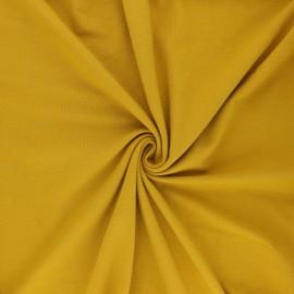Tissu jersey uni Bio - Moutarde x 10cm