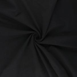Tissu jersey uni Bio - Noir x 10cm
