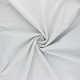 Tissu jersey uni Bio - gris perle x 10cm
