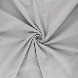 Tissu jersey uni Bio - gris x 10cm