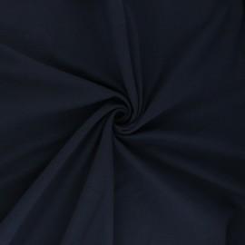 Tissu jersey uni Bio - bleu marine x 10cm