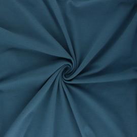 Tissu jersey uni Bio - bleu houle x 10cm