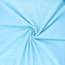 Tissu jersey uni Bio - bleu ciel x 10cm