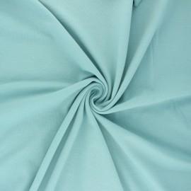 Tissu jersey uni Bio - bleu givré x 10cm