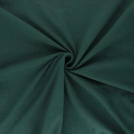Tissu jersey uni Bio - vert sapin x 10cm