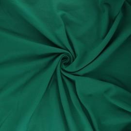 Tissu jersey uni Bio - vert prairie x 10cm