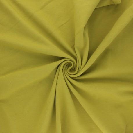 Organic Jersey Fabric - avocado green x 10cm