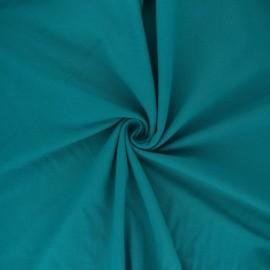 Tissu jersey uni Bio - paon x 10cm