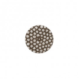 Bouton polyester Lyvia - Argent
