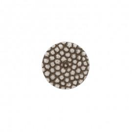 Polyester Button Lyvia - silver