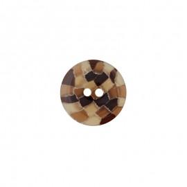 Bouton polyester Zelli - Marron