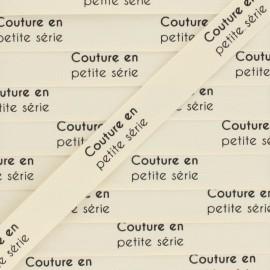 """Ruban coton étiquette """"Couture en petite série"""" - écru - 1m"""